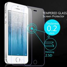 Ultra Thin 0.2mm Premium Explosion-Proof HD Clear Tempered Glass Screen Protector Film for iPhone 5 5G 5S SE With Retail Package