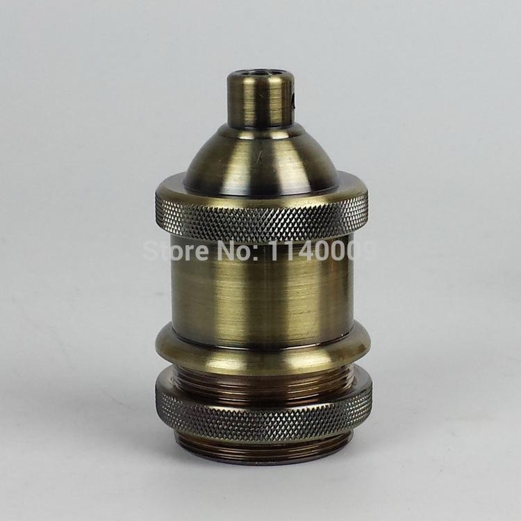 Vintage edison lamp holder light bulb socket metal lampholder E27(China (Mainland))