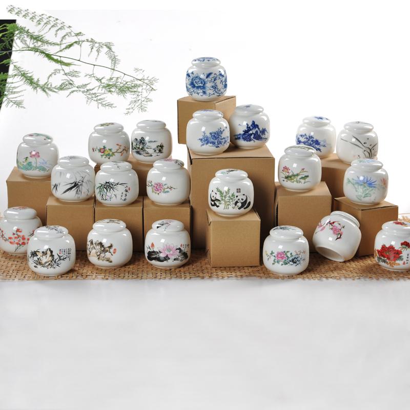 Haute qualité, Thé en céramique caddy, Bleu et blanc porcelaine bouteilles, Réservoir de stockage, Petites collations scellée boîtes, Livraison gratuite(China (Mainland))