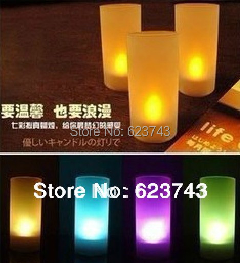 Free Shipping! 10PCS Flameless yellow LED Candle Light /Voice Control yellow LED Light Romantic Tealight candle light(China (Mainland))