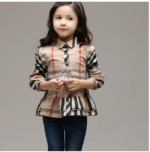 Kids Classic Plaid Shirt Skirt Style Export Shirt 2 6 Year Old European And American Style