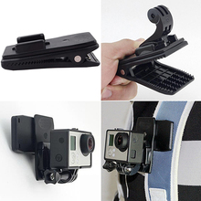 360 degree Rotary Backpack Hat Rec-Mounts Clip Fast Clamp Mount for GoPro Hero 2 3 3+ 4