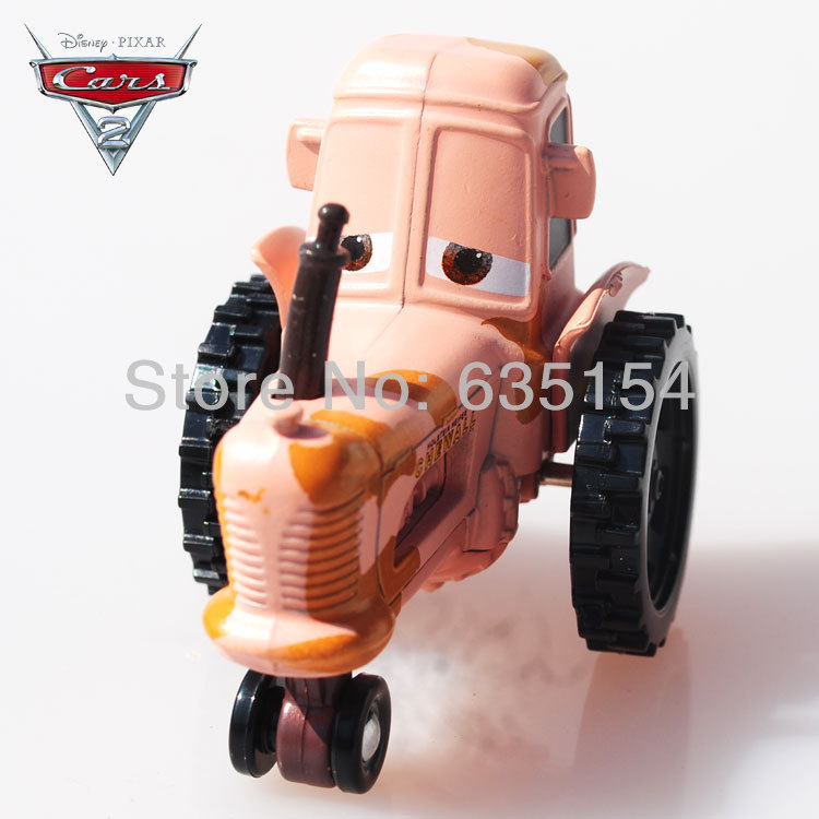 100% Original 1/55 Scale Pixar Cars Toys Holstein Heifer Chewall Tractor Diecast Metal Pixar Car Toy For Children -Free Shipping(China (Mainland))