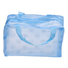 LeTing Hot Sale New Fashion Floral Transparent Waterproof Cosmetic Portable Makeup Bag Toiletry Travel Wash Pouch Organizer Bag(China (Mainland))