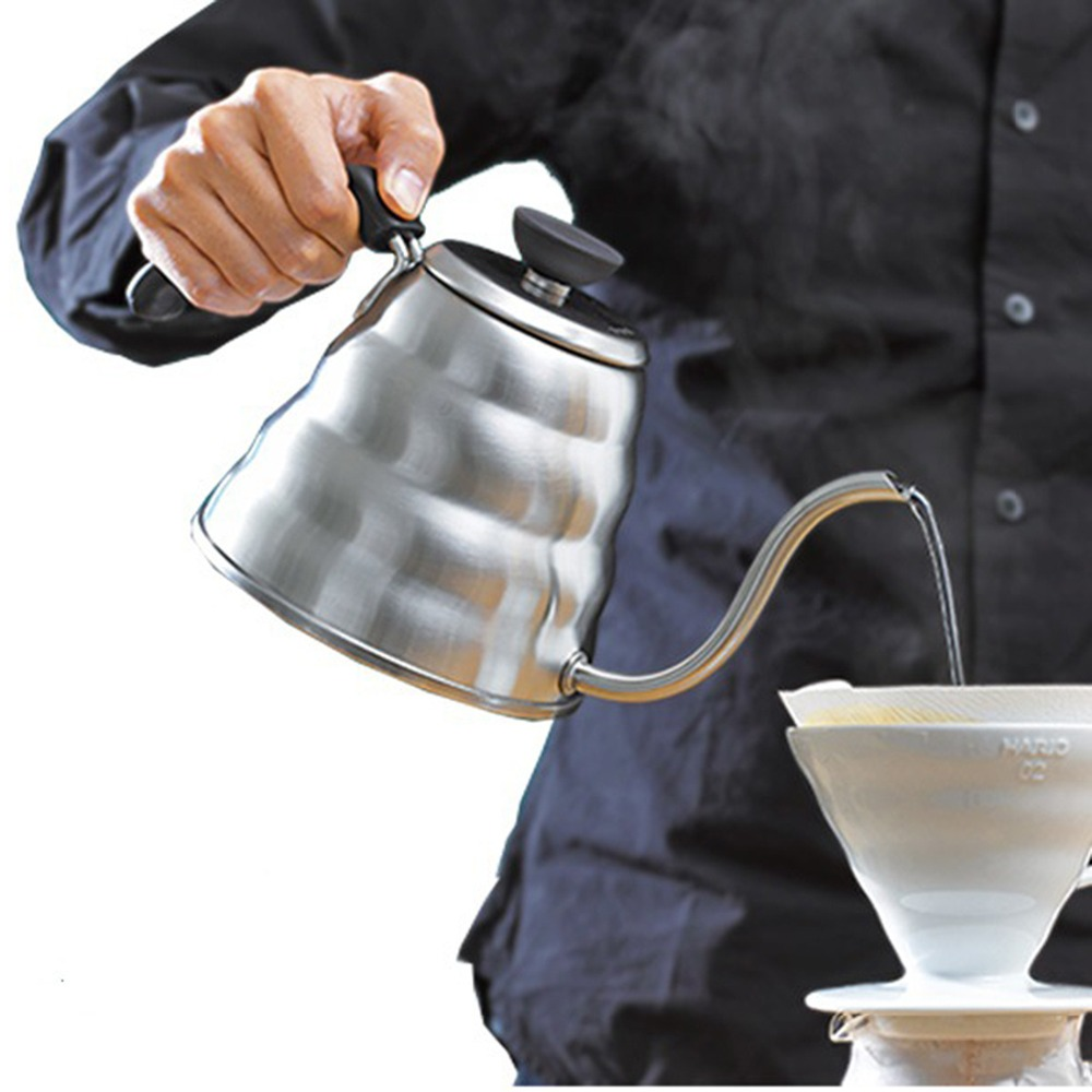 Brand New 1L Stainless Steel Fine Mouth Coffee Pot Drip Kettle