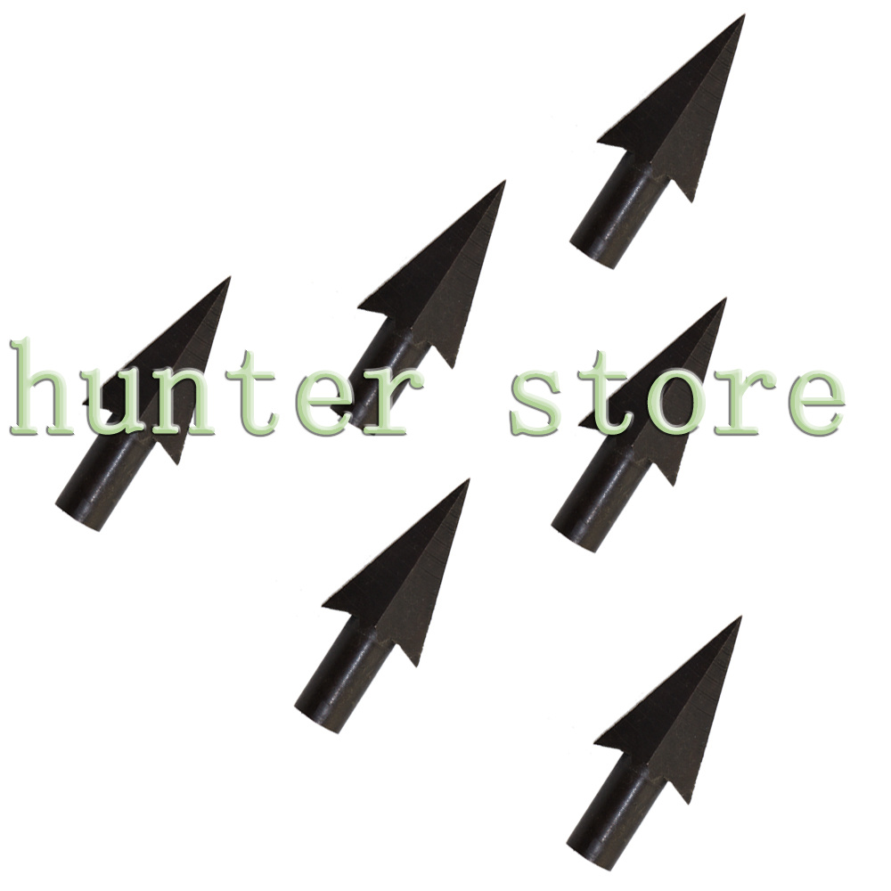 Free ship 7pcs black archery arrow heads broadheads swallow tail shaped bamboo arrow tips for recurve