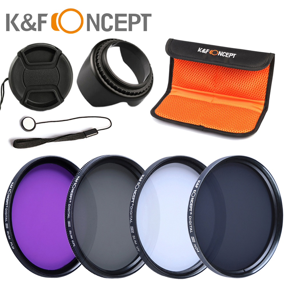 K&amp;F concept 55mm Filter Set UV CPL FLD ND4 Lens Hood Pen For Sony A99 A77 A65 A55 A37 Alpha   cleaning pen   pouth lens keeper  <br><br>Aliexpress