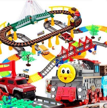 212 pcs Oversized thomas electric train tracks set multi-layer electric toy Toy Train Set Tracks(China (Mainland))