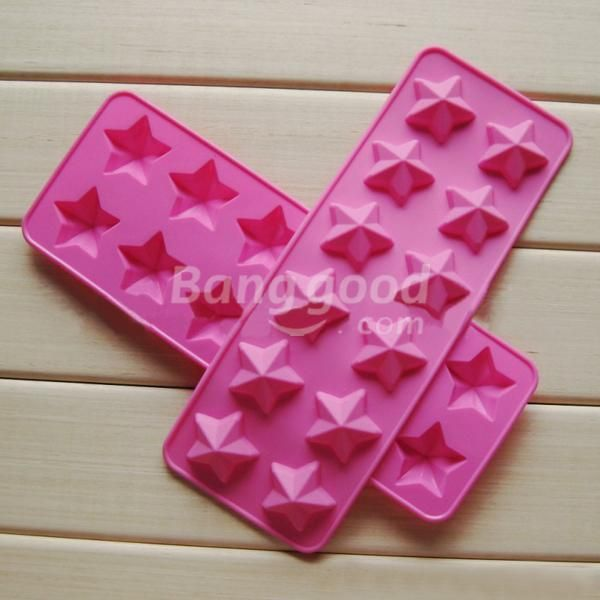 New Hot sale discount High Temperature Resistant Five Star Silicone Cake Mold promotion free shipping(China (Mainland))