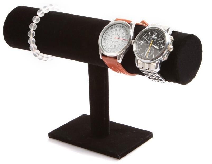 black velvet jewelry bracelet necklace watch display stand