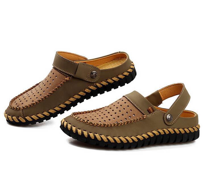Sandálias, Mulas tamancos chinelos sapatos couro, Verão masculino chinelos antiderrapante em apartamentos sapatos(China (Mainland))