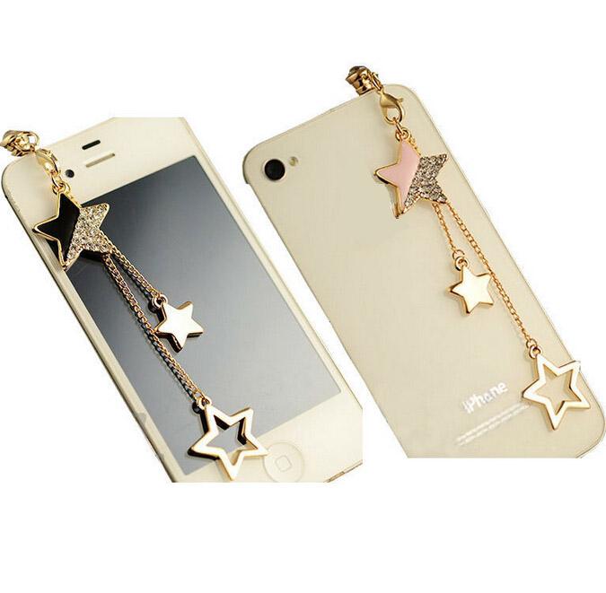Star Pendant Chain Dustproof Plug Caps Cell Phone Accessories 3.5mm Earphone Anti Dust Plug Dachshund(China (Mainland))