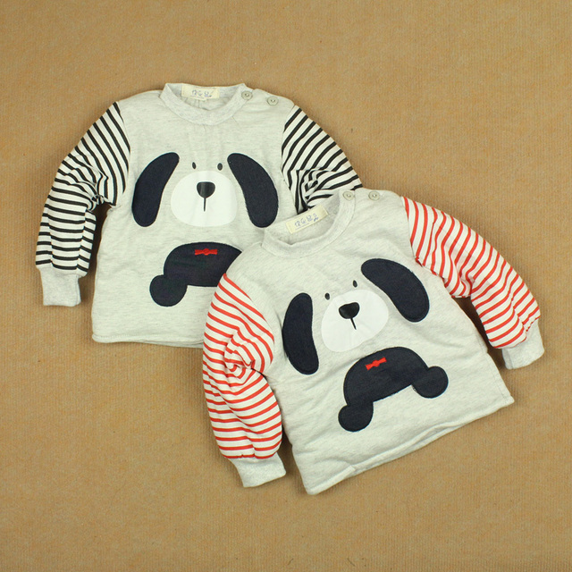 Winter male female child thermal thickening cotton-padded jacket cotton-padded baby button pullover wadded jacket cotton-padded