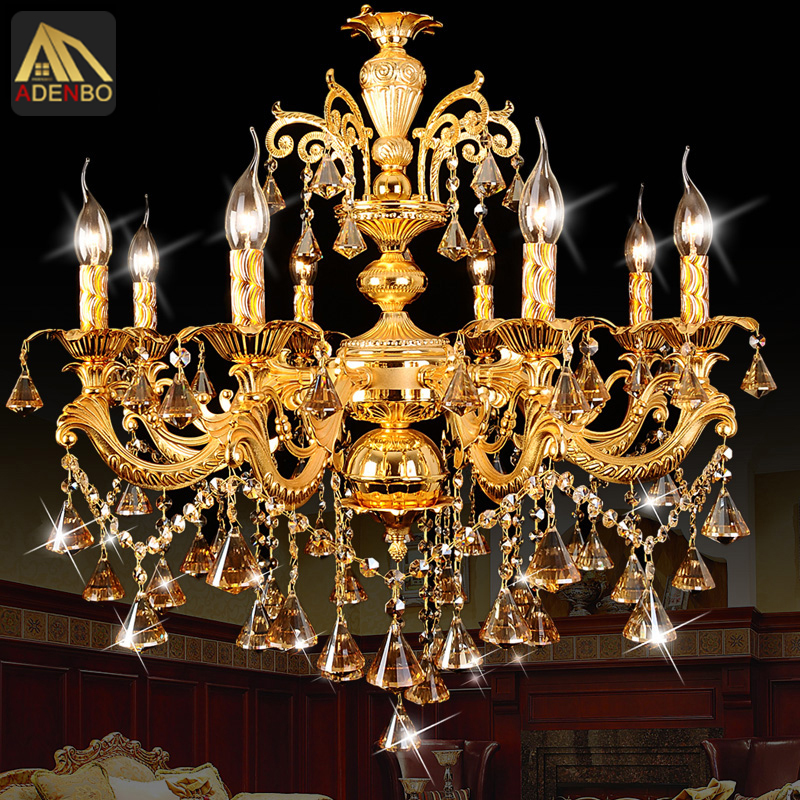 Modern Gold LED Crystal Chandelier Lamp With 6 Arms 8 Arms For Dining Room And Bedroom Lighting (962-6-8)(China (Mainland))