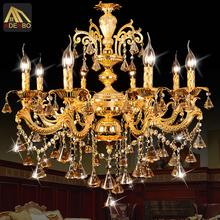 Moderne Gold LED Kristall-Kronleuchter Lampe mit 6 Arme 8 Arme für Esszimmer und Schlafzimmer Beleuchtung (962-6-8)(China (Mainland))