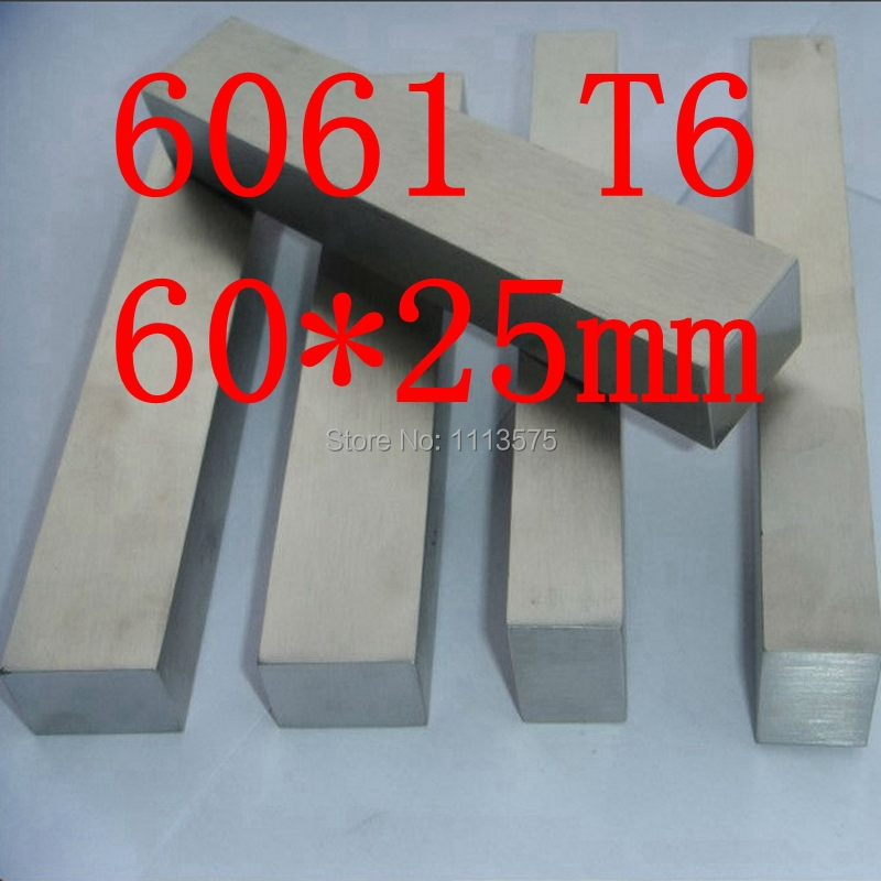 60mm x 25mm Aluminium Flat Bar,60*25mm,width 60mm,thickness 25mm,6061 T6