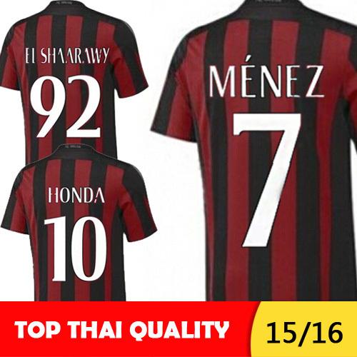 Free shipping AC milan jersey 15 16 Menez survetement football camisetas EL SHAARAWY AC milan 2016 honda sport soccer jerseys(China (Mainland))