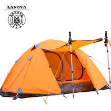 Double Layer For 2 Persons Waterproof Outdoor Camping Tent Ultra-light Aluminum Rod Free Shipping