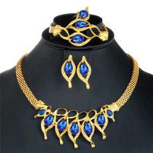 CWEEL Schmuck Sets Für Frauen Nigerian Hochzeit Afrikanische Perlen Schmuck Set Imitation Kristall Aussage Halskette Kostüm Schmuck(China)