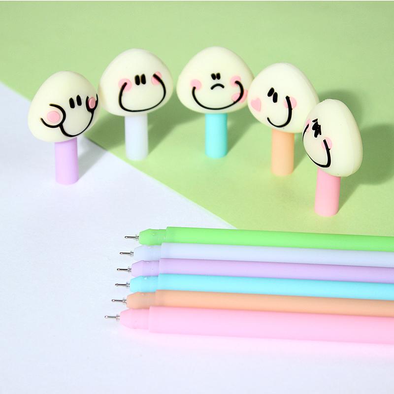 freeshipping 48pcs Creative cute balls 0.5mm black gel pen refills pen pen students prizes