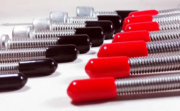 Mm pvc end cap plastic pinhole fine tube steel screw bolt