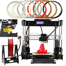 220*220*240mm 3D printer Reprap prusa i3 DIY kits I3 Aluminium Extrusion melzi Mainboard 1roll filament 8GB SD card for free