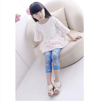 90-130cm summer style print floral kid pants girl legging baby pants kid legging/leggins girl pants child legging(China (Mainland))
