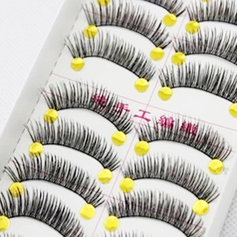10Pair Cheap Natural False Eyelashes Eyelash Extensions Fake Lashes Party Eyelashes Extension Tools For Makeup Volume Lashes(China (Mainland))