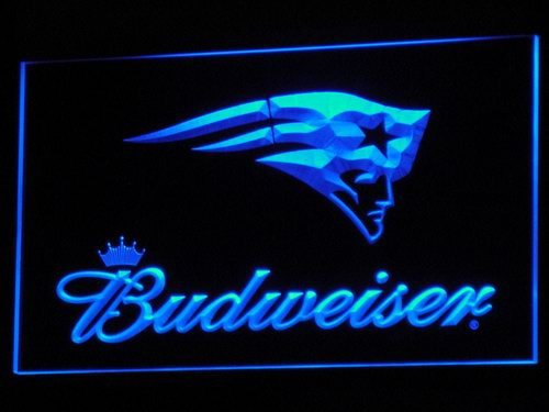 b298 New England Patriots Budweiser LED Neon Sign with On/Off Switch 7 Colors to choose(China (Mainland))