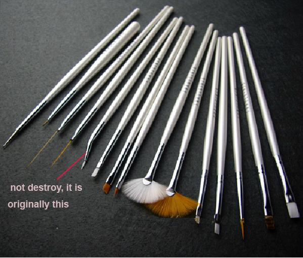 Bjd face pen set pen white elbow pen 15pieces/slot BJD DIY face make up tool pen<br><br>Aliexpress