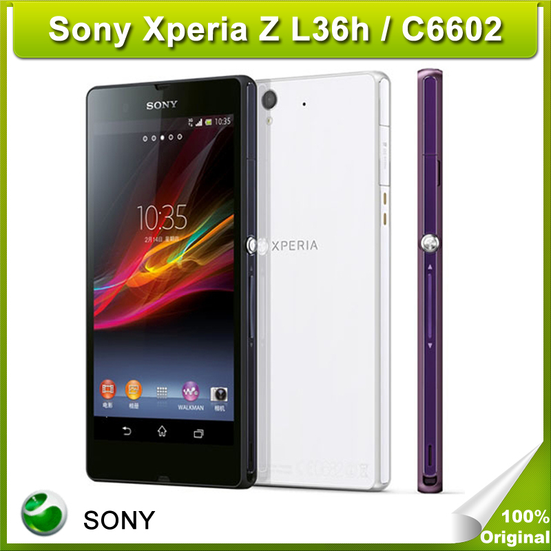 Original Unlocked Sony Xperia Z L36h 5.0 inch Quad Core 2GB 16GB ROM 13.0MP Android Google Play Store C6602 Refurbished Phone(China (Mainland))