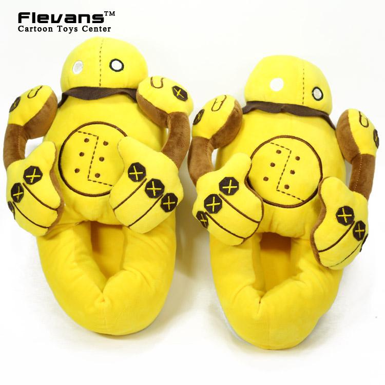 Anime Cartoon LOL Blitzcrank Plush Shoes Home House Winter Slippers for Children Women Men ANSE056<br><br>Aliexpress