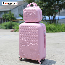 20 inch22 inch24 inch28 inch Hello Kitty Suitcase Set,Children Women's Lovely KT Luggage,ABS Travel Bag,Universal wheel Trolley box - MIC-Luggage Co., Ltd Store store