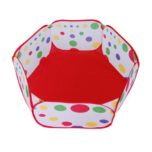 Best seller Free Shipping Pop up Hexagon Dot Children Ball Play Pool Tent Carry Toy Jun20(China (Mainland))