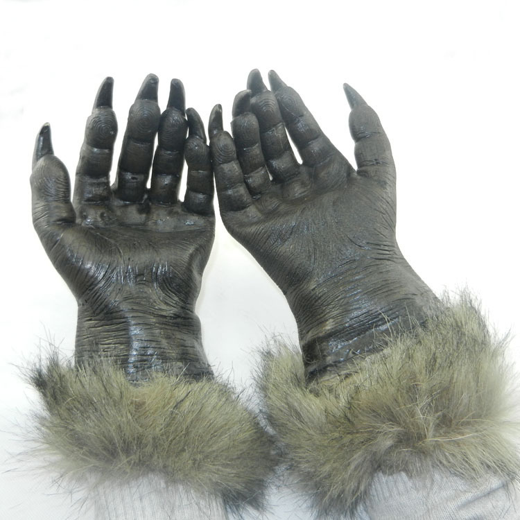 Halloween Horror Devil Masks Silicone Rubber Party Gloves Wolf Mask Scary - Yiwu Jiusheng Super Store store