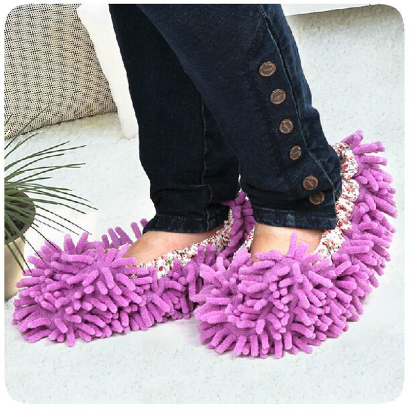 Dust Cleaner House Bathroom Floor shoes cover Cleaning Mop Cleaner Slipper Lazy Shoes Cover(China (Mainland))