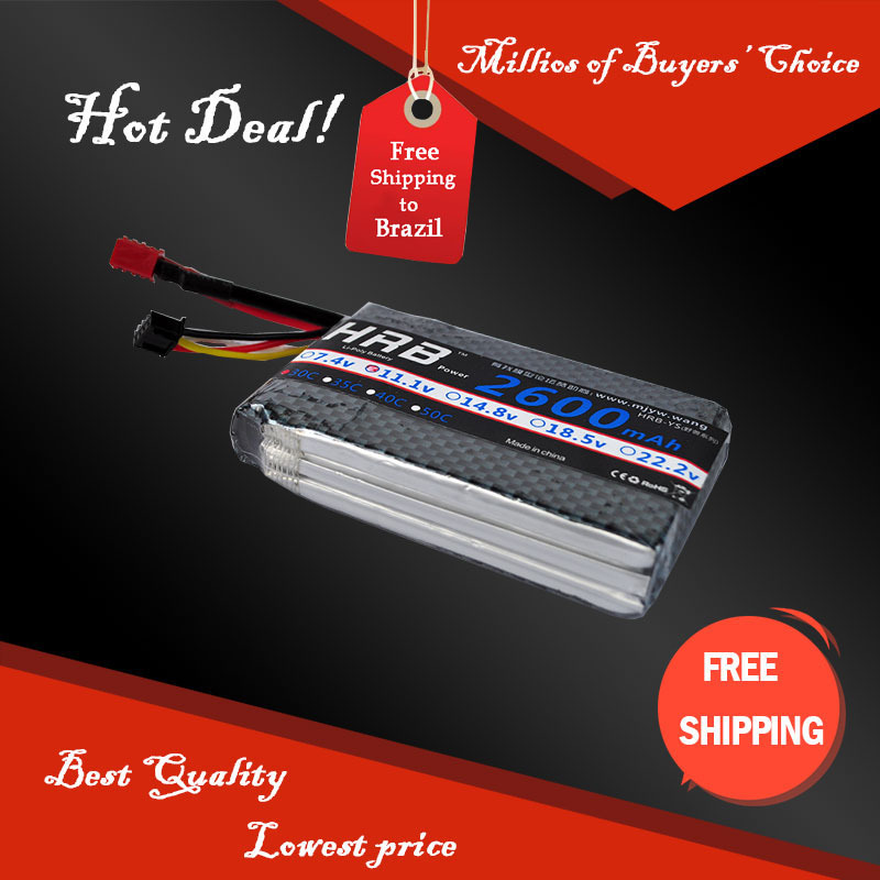 Short design HRB Wholesale Price lipo battery 3s 11.1V 2600mah 30C Max 55C For Helicopters Quadcopter RC Models lipo Batteria(China (Mainland))