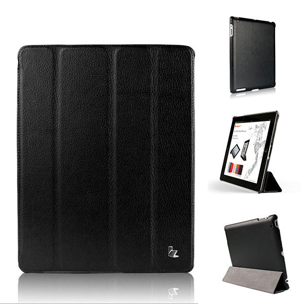Jisoncase Brand Case For iPad 2 3 4 Leather Case 360 Degree Protective Magnetic Smart Cover Case iPad 2 3 4 New Free Shipping(China (Mainland))