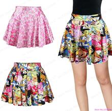 New Adventure Time Tennis Skirts Ladies Kawaii Summer Pleated Running Miniskirt Pettiskirt Tutu Party Saia Sweet Printed