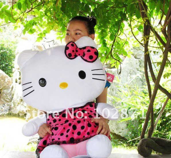 Super big size hello kitty toys 75cm size ,plush toys, high quality and best price toys
