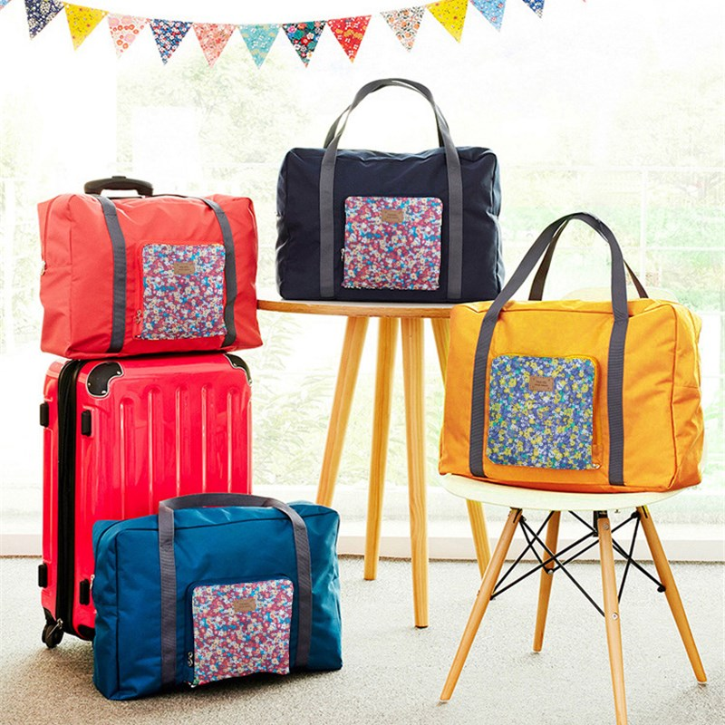 Package Bag Suitcase Folding Travel Cute Flower Waterproof Storage Bag For Clothes Tidy Home Organizer Pouch Suitcase(China (Mainland))