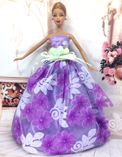 NK One Pcs 2016 Princess Wedding Dress Noble Party Gown For Barbie Doll Fashion Design Outfit Best Gift For Girl' Doll 021A(China (Mainland))