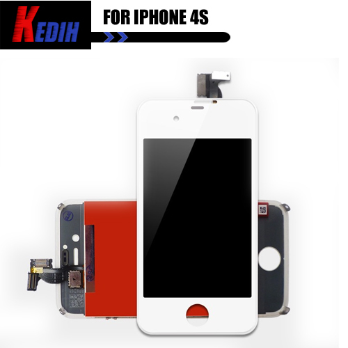 Free Shipping LCD Display + Touch Screen digitizer + Bezel Frame + Tools Replacement Part Assembly For iPhone 4S White(China (Mainland))