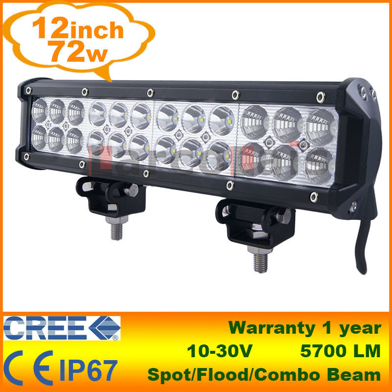 12 inch cree 72w led verlichting bar voor tractor boot for Tractor verlichting