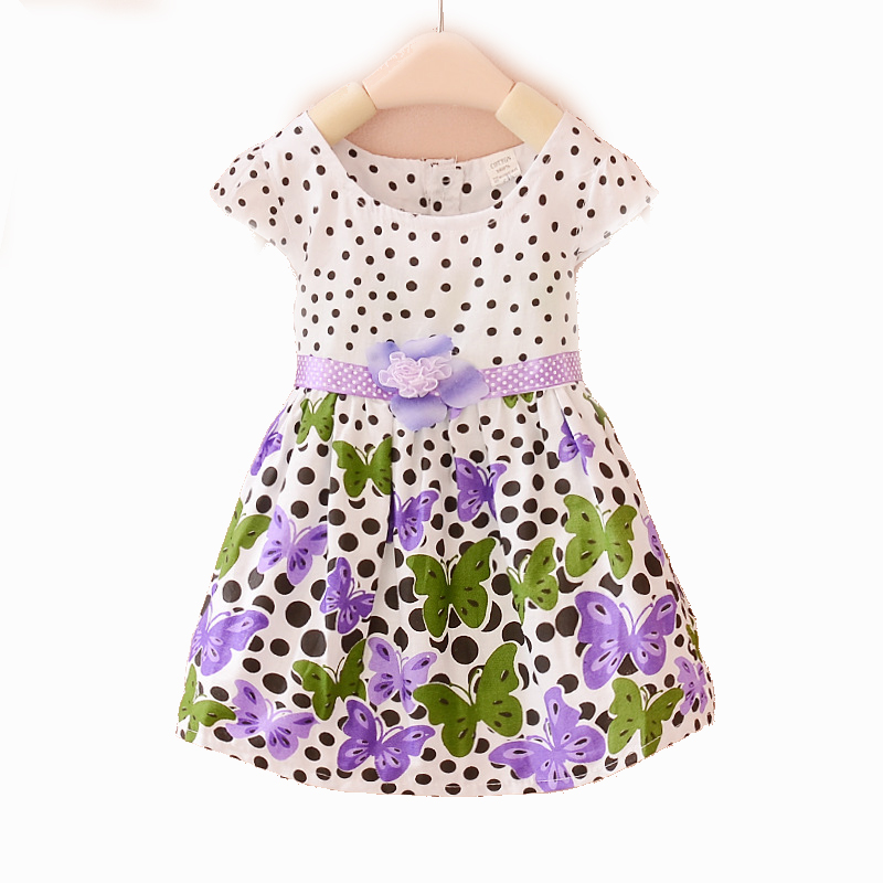 Kids Baby Girls Dresses Summer Style Sleeveless Kids Dresses For Girls Clothes Draped Summer Dress Floral Print Girl Clothing<br><br>Aliexpress
