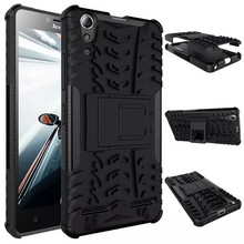 For Lenovo K3 A6000 PC+Hard Silicone Rugged Armor Dual Case With Stand For Lenovo Lemon K30-T A 6000 Plus Military Army 3D Cover(China (Mainland))