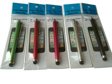 Capacitive Stylus Pen Touch Screen Pen  With Retail Packaging Plastic Bag For iPhone 4s 5s 6 Smart Phone Tablet PDA(China (Mainland))