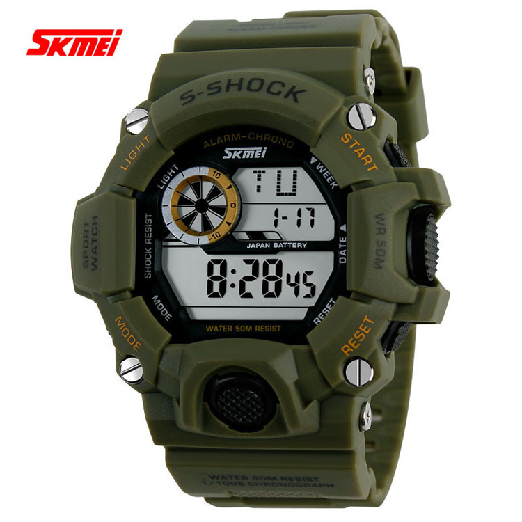 SKMEI Men Sports Watches Mens S SHOCK LED Digital Watch Relojes Vogue Fashion Casual Wristwatches Men's Relogio Masculino Clock(China (Mainland))