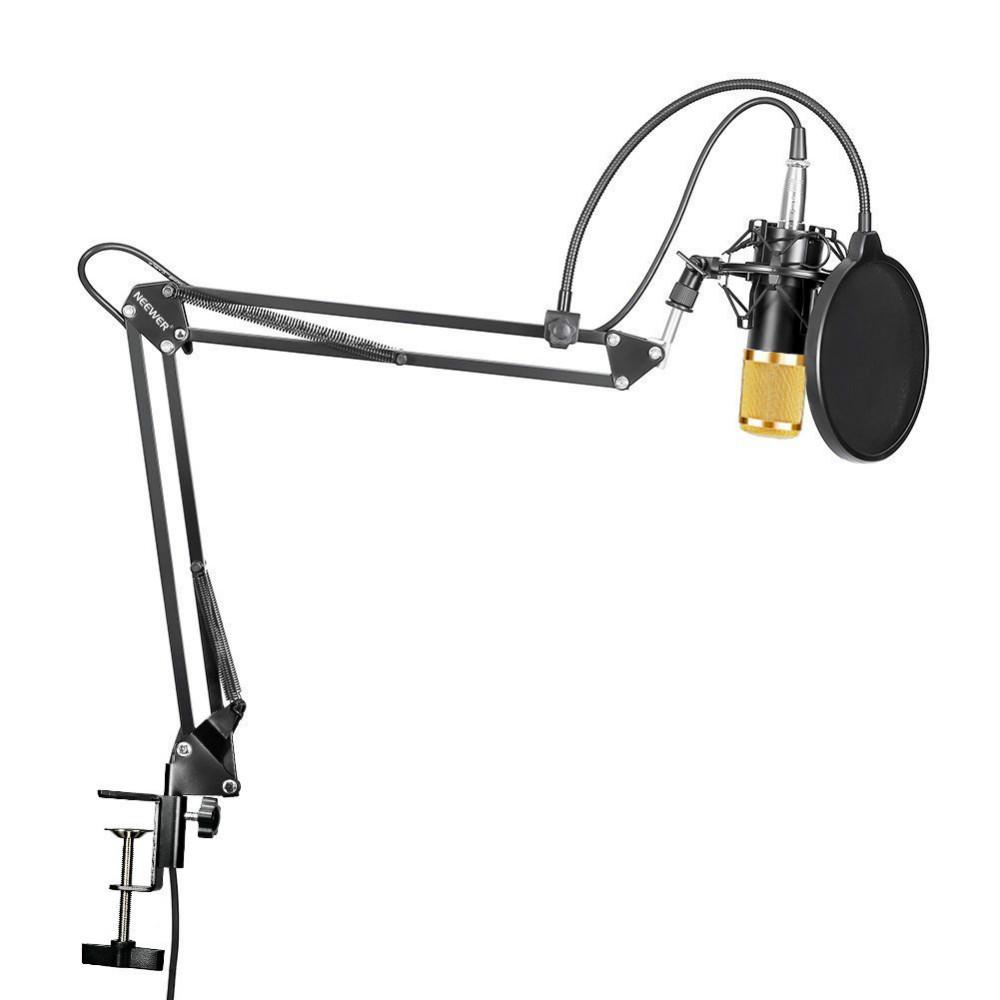ถูก N eewer NW-800สตูดิโอกระจายเสียงบันทึกคอนเดนเซอร์ไมโครโฟนNW35สามารถปรับได้ระงับขาแขนขากรรไกรติดตั้งหนีบชุด