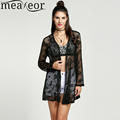 Meaneor Women Summer Autumn Beach Thin Breathable Outwear Sweater Coat Lace Hollow Out Crochet Long Cardigan